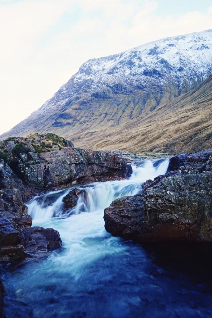 Glen Etive waterfall (slow shutter)