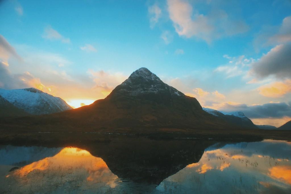 Brilliant Glencoe sunset & reflection
