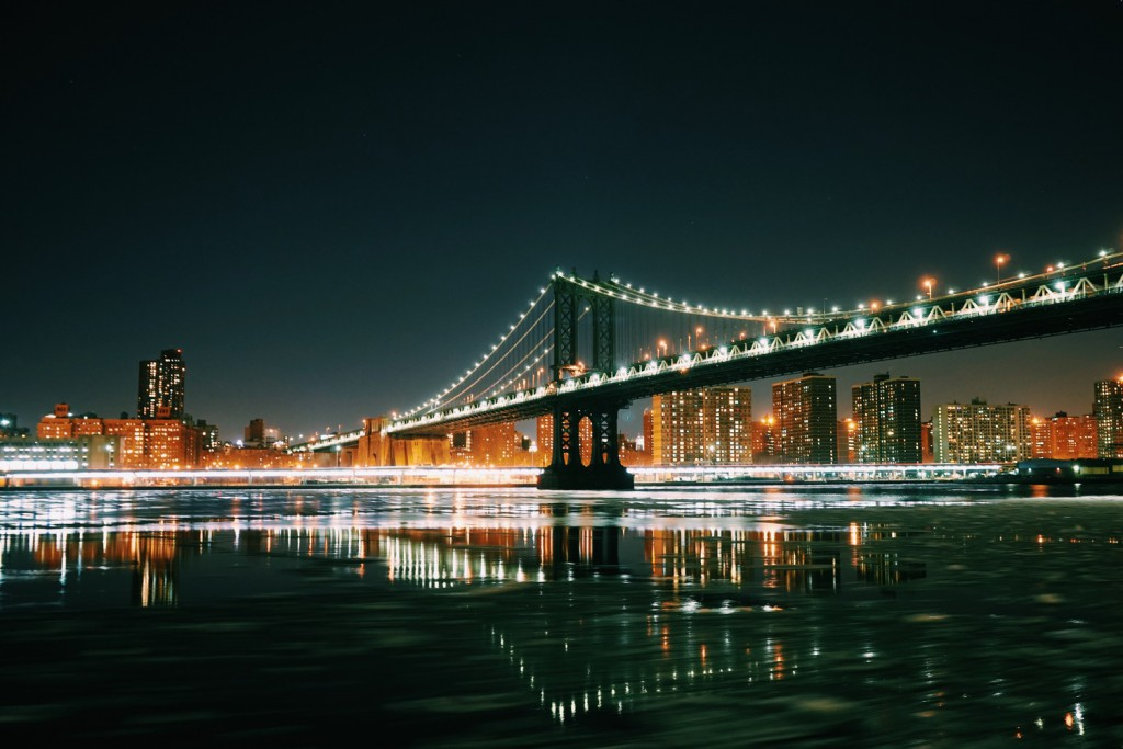 Slow shutter of the Manhattan Bridge & FDR drive